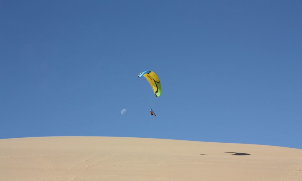 Paragliding in Namibia