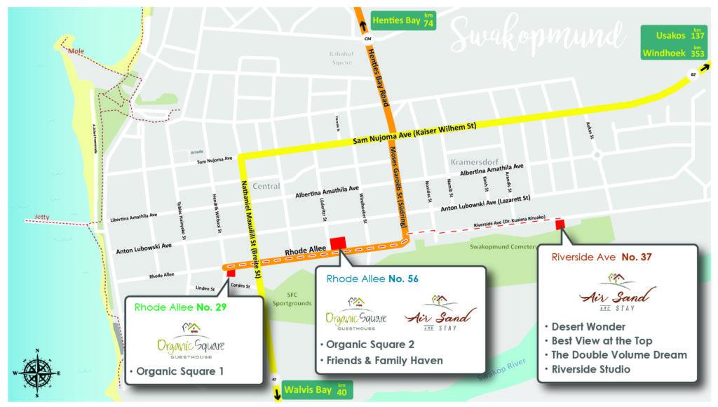 Map of Swakopmund